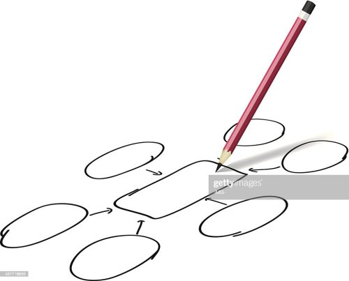 small resolution of pencil drawing success diagram stock vector
