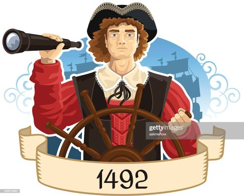 small resolution of portrait of christopher columbus vector art