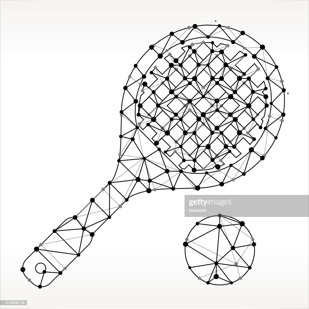 hight resolution of racquetball triangle noeud noir et blanc motif clipart vectoriel
