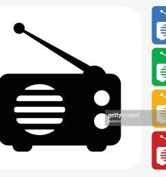 radio icon flat graphic design [ 1024 x 808 Pixel ]