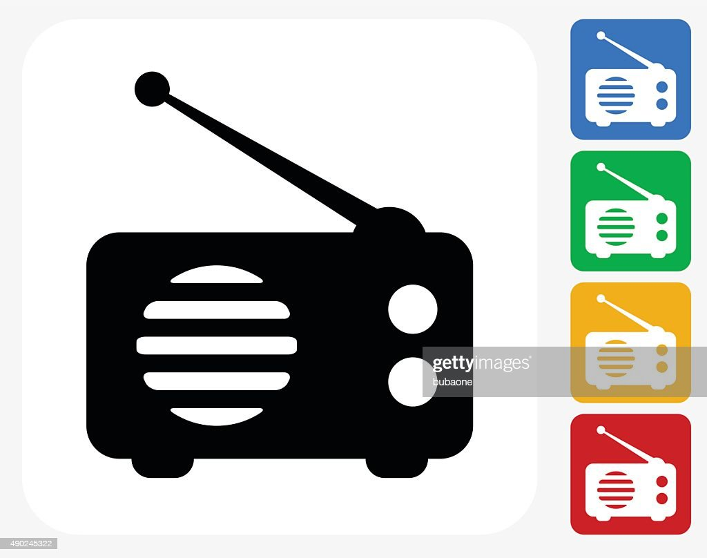 hight resolution of radio icon flat graphic design