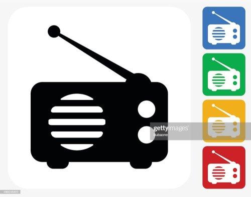 small resolution of radio icon flat graphic design