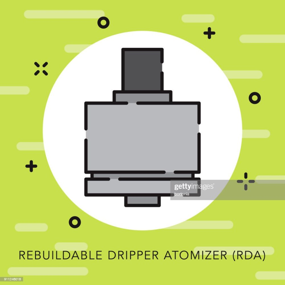 medium resolution of rebuildable dripper atomizer open outline vaping icon vector art