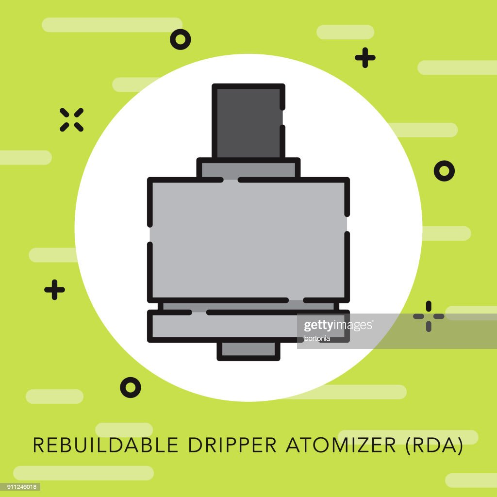 hight resolution of rebuildable dripper atomizer open outline vaping icon vector art