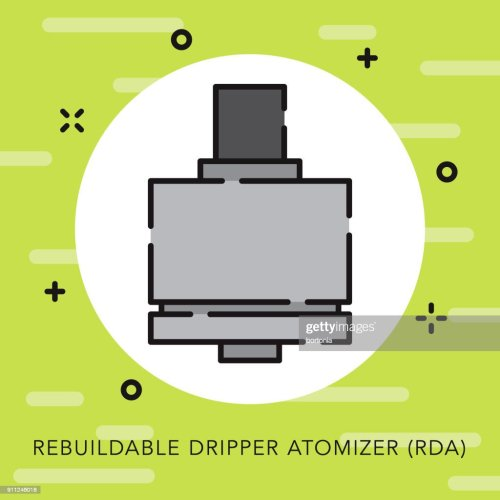 small resolution of rebuildable dripper atomizer open outline vaping icon vector art