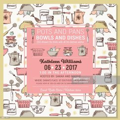 Kitchen Bridal Shower Remodel Orlando Retro Invitation Template Vector Art Getty