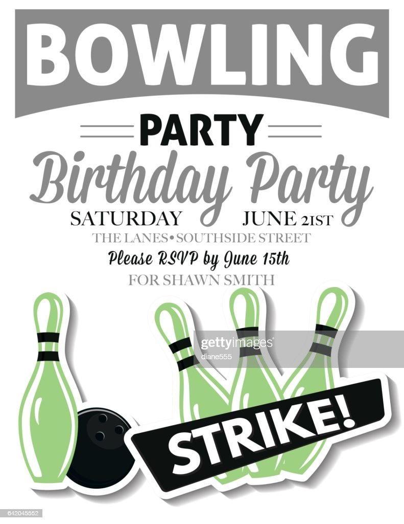 https www gettyimages com detail illustration retro style bowling birthday party royalty free illustration 642045552