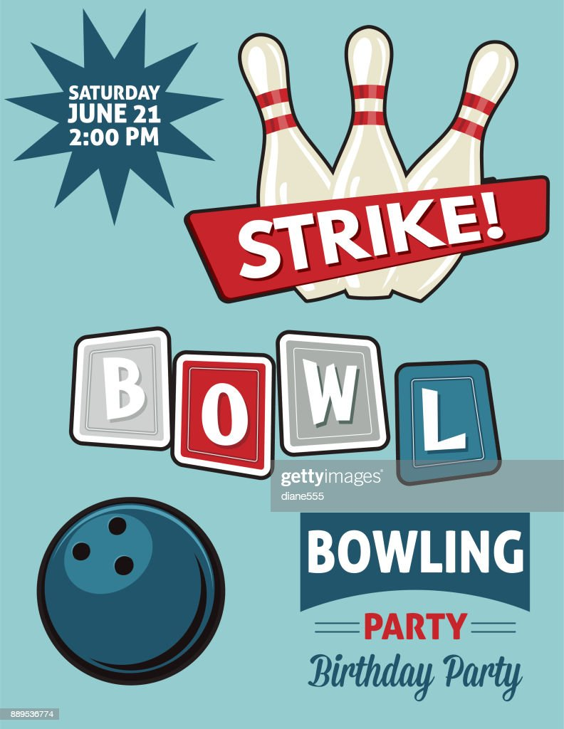 https www gettyimages com detail illustration retro style bowling birthday party royalty free illustration 889536774