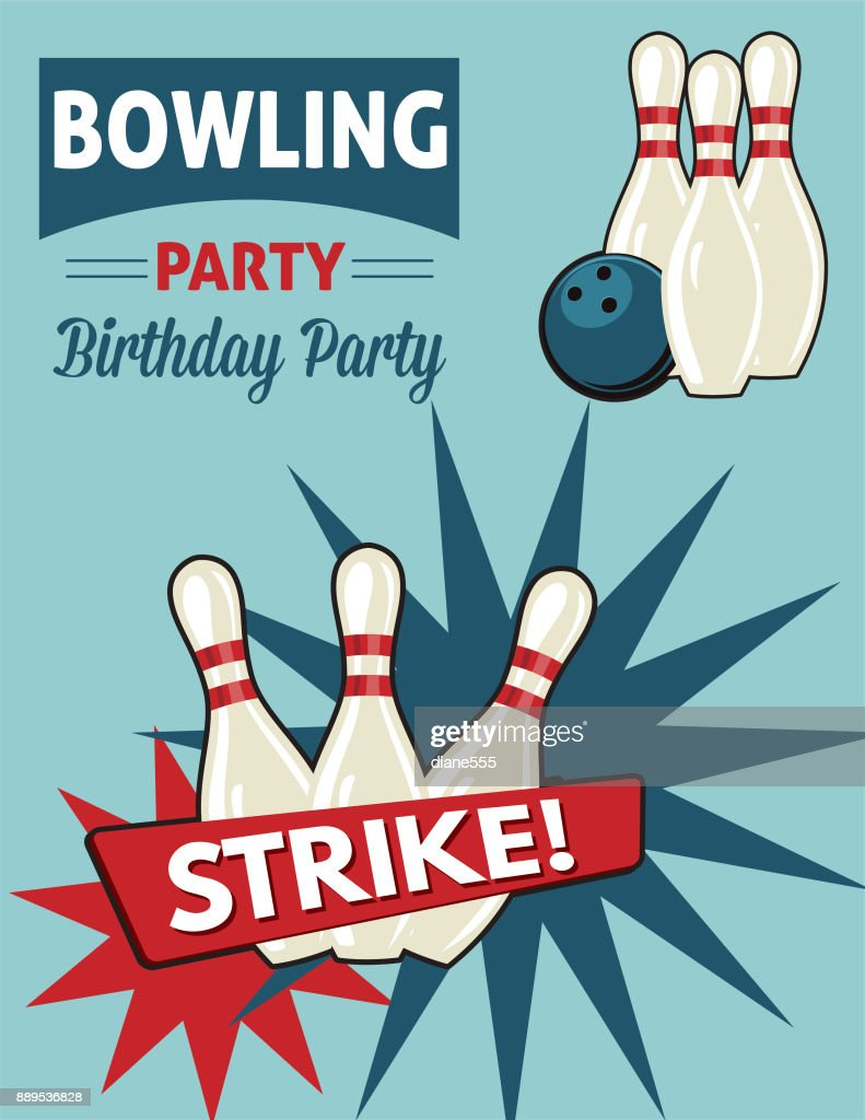 https www gettyimages com detail illustration retro style bowling birthday party royalty free illustration 889536828