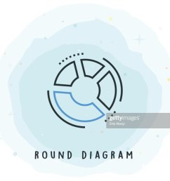 round diagram icon with watercolor patch vector art [ 1024 x 853 Pixel ]
