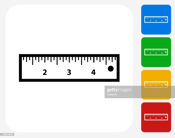 Ruler Icon Flat Graphic Design Vector Art Getty
