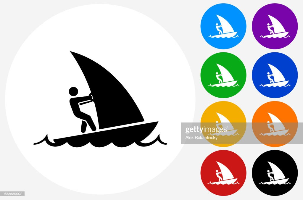 sail boat icon on