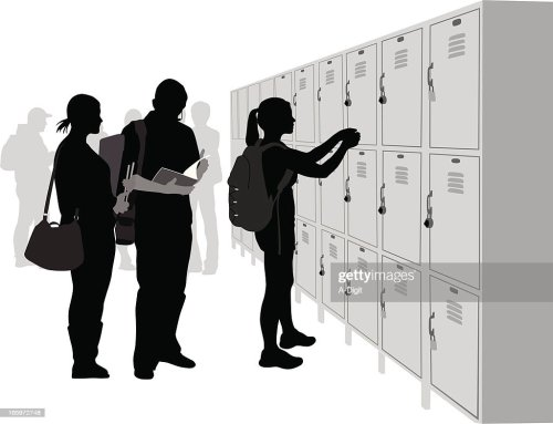 small resolution of school lockers vector silhouette stock vector