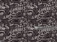 Seamless Doodle Coffee Pattern Background Vector Art ...