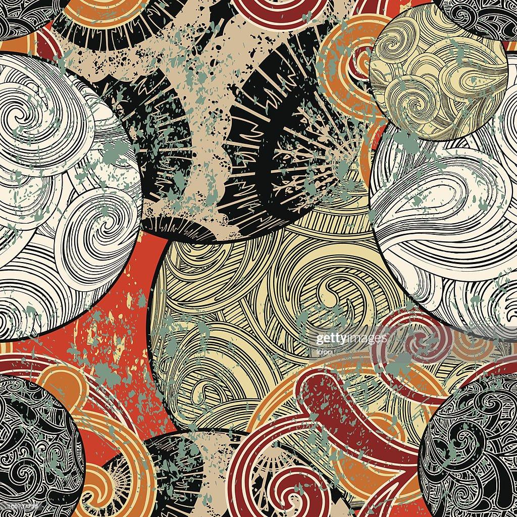 Conue Sans Couture Papier Peint Japonais Clipart