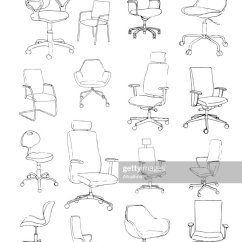 Office Chair Vector Hon Big And Tall Chairs Set Isolated On White Background Sketch Different Chairsvector Illustration Art Thinkstock