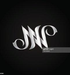 silver monogram double letter n vector golden initials logo design clipart vectoriel [ 1024 x 1024 Pixel ]