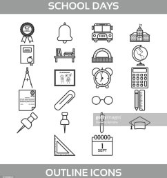 simple set of school and office vector line icons contains such icons as school building [ 931 x 1024 Pixel ]