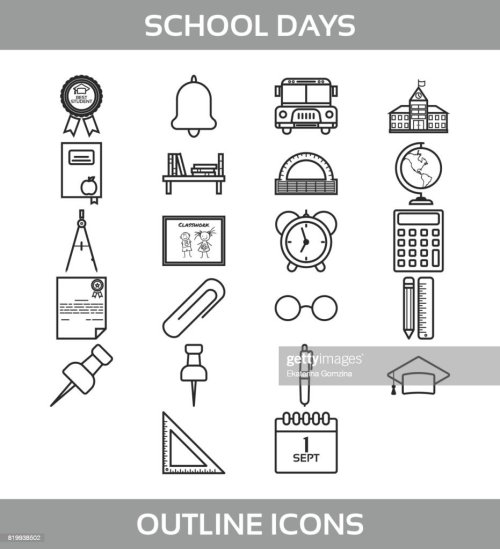 small resolution of simple set of school and office vector line icons contains such icons as school building
