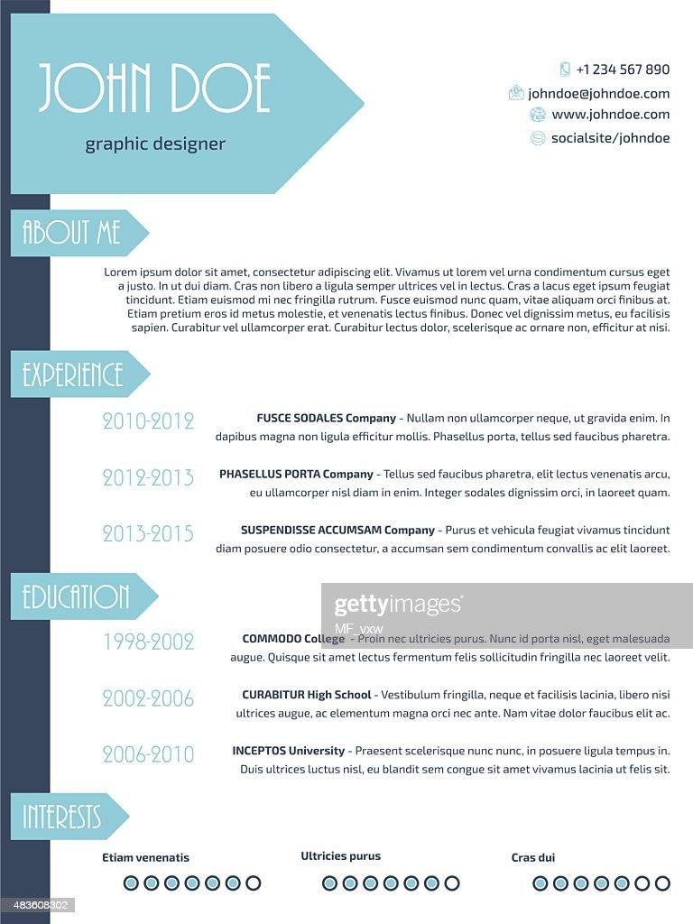 Simplistic Modern Resume Curriculum Vitae Cv Template