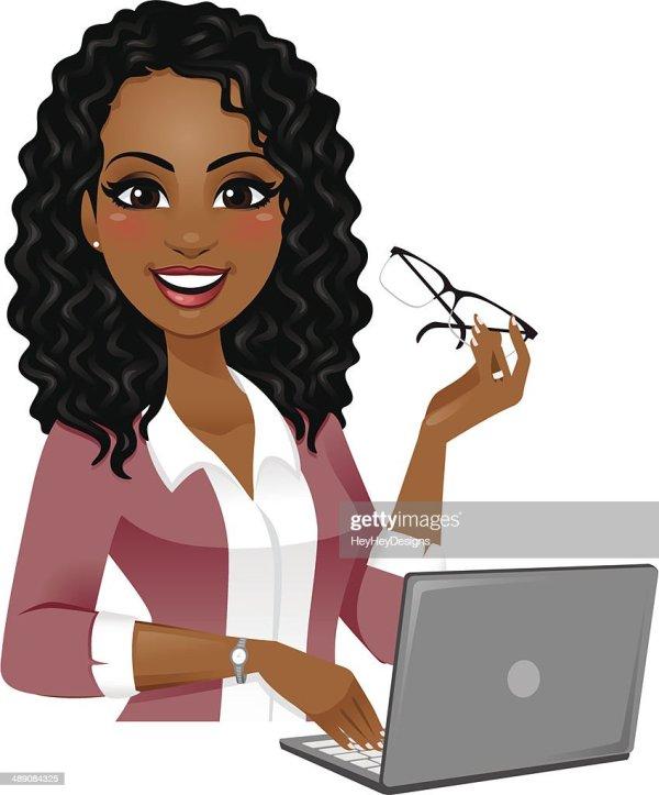 Smart Woman Laptop Vector Art Getty