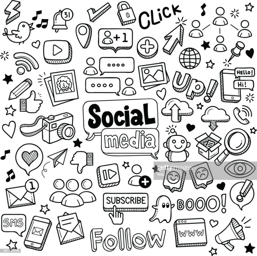 Social Media Doodles Stock Vector Thinkstock