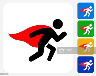 Superhero With Cape Running Icon High Res Vector Graphic Getty Images