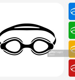 swimming goggles icon flat graphic design [ 1024 x 808 Pixel ]