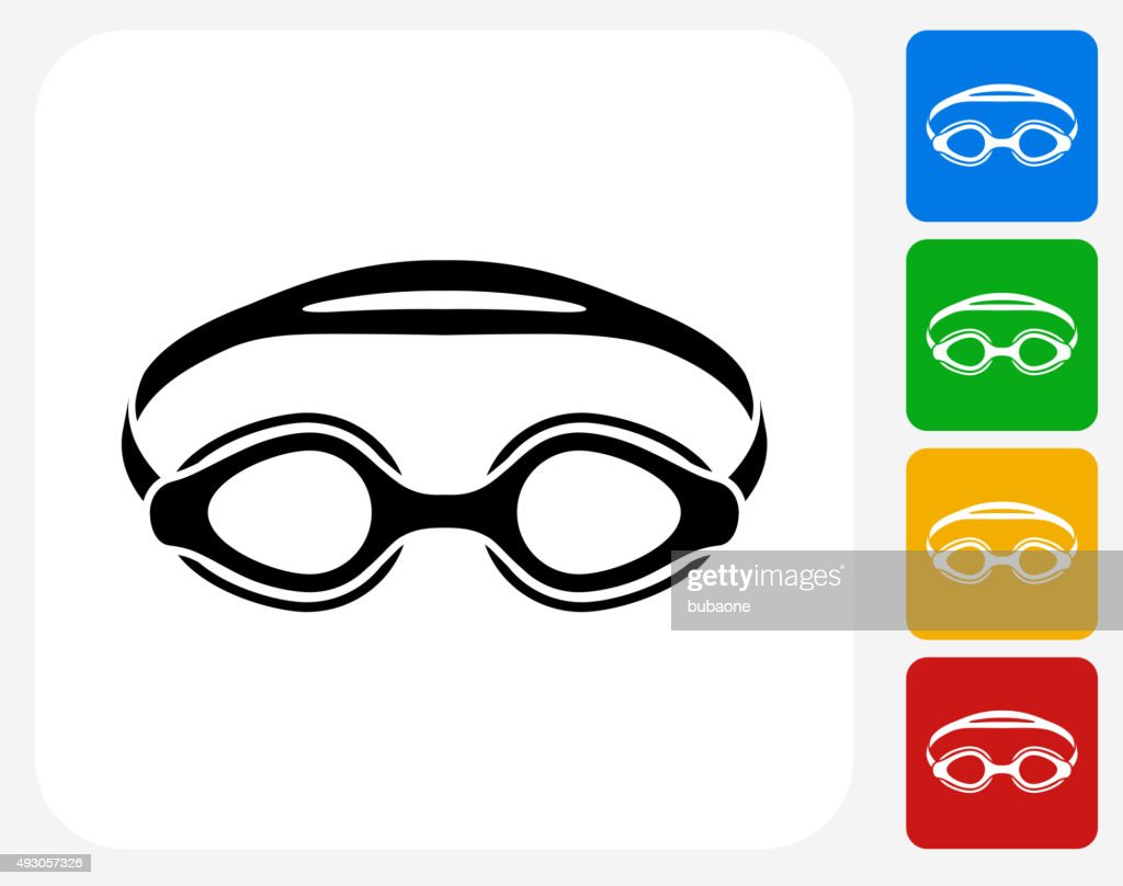 hight resolution of swimming goggles icon flat graphic design