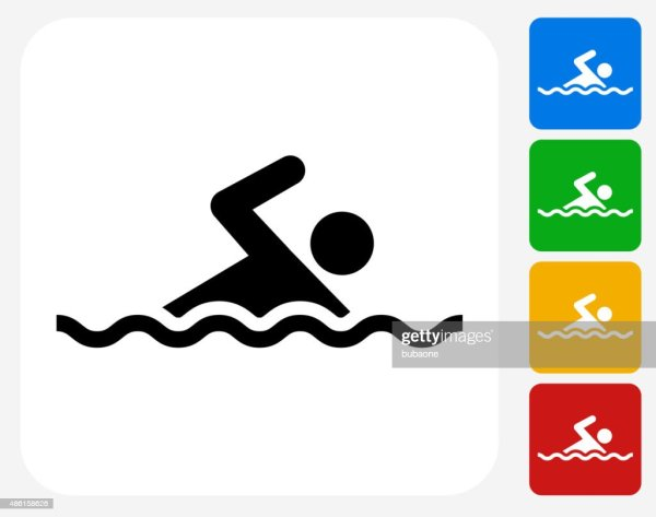 Swimming Icon Flat Graphic Design Stock Illustration
