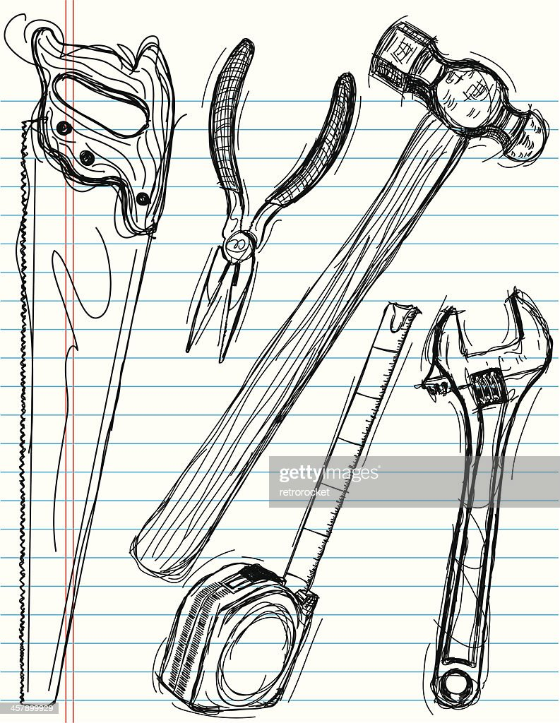 Tool Drawings Vector Art  Getty Images