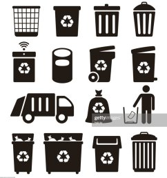 trash garbage and recycling can icons vector illustration [ 916 x 1024 Pixel ]