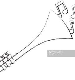 trumpet notes wind musical instrument horn [ 1024 x 1024 Pixel ]