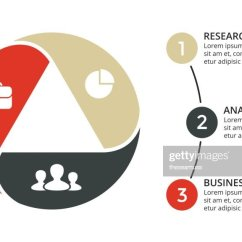 3 Arrow Circle Diagram Enzyme Labeled Vector Arrows Triangle Infographic Cycle Graph Presentation Chart Business Concept With Options Parts Steps Processes