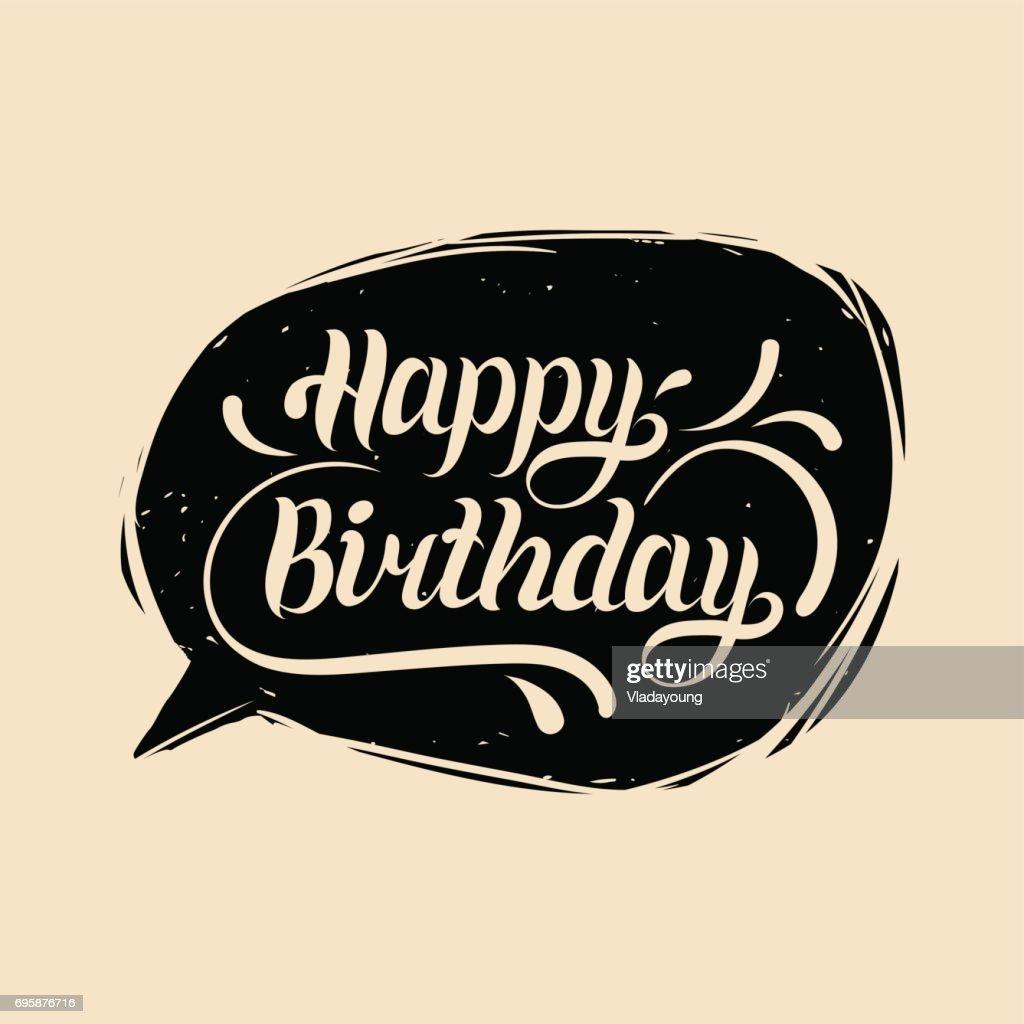 Handlettering Schriften Happy Birthday