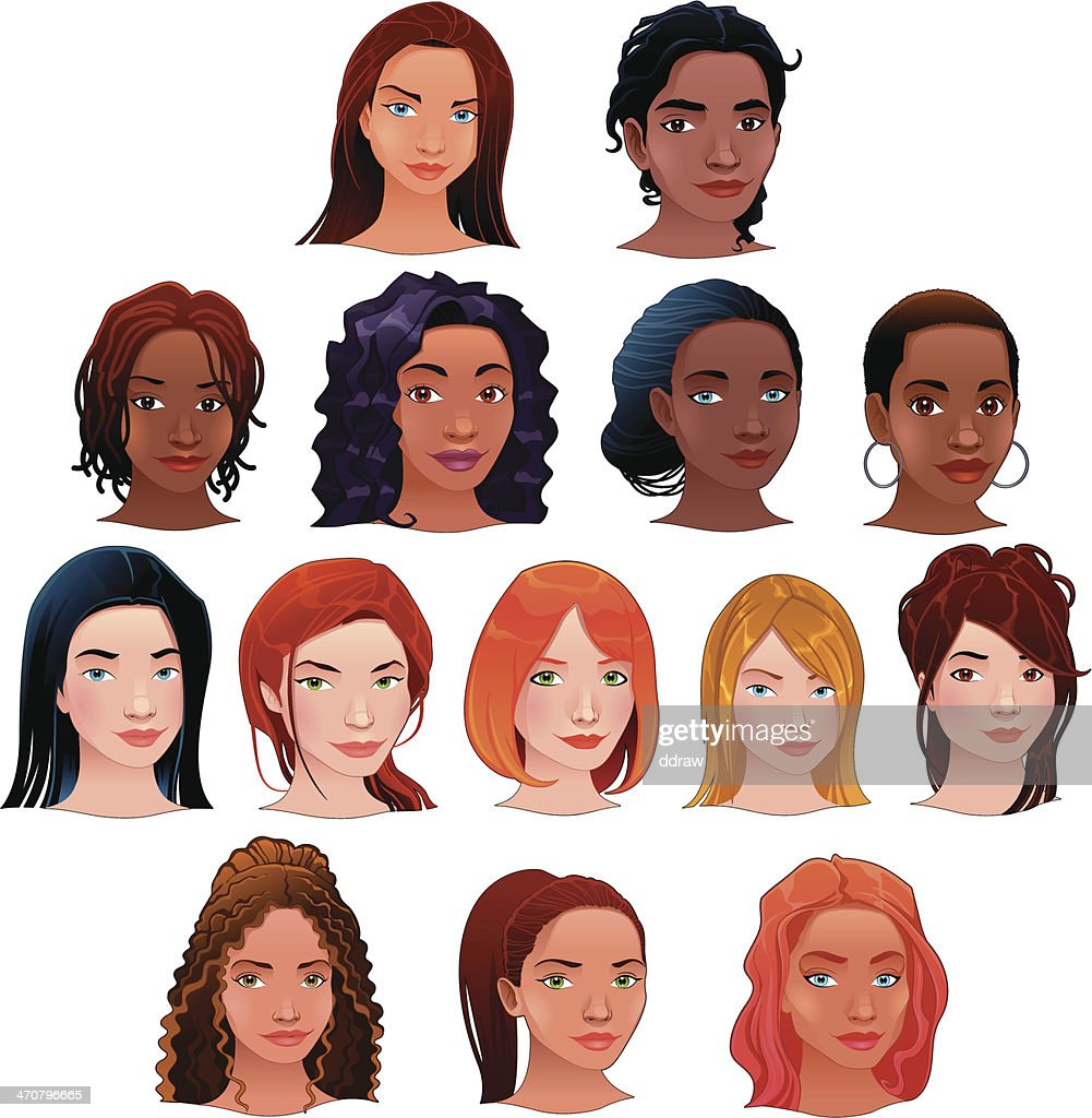 vector isolated avatars