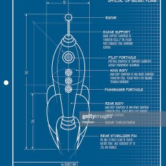 Rocket Ship Diagram Simple Wiring For Trailer Lights Vector Blueprint Art Getty Images