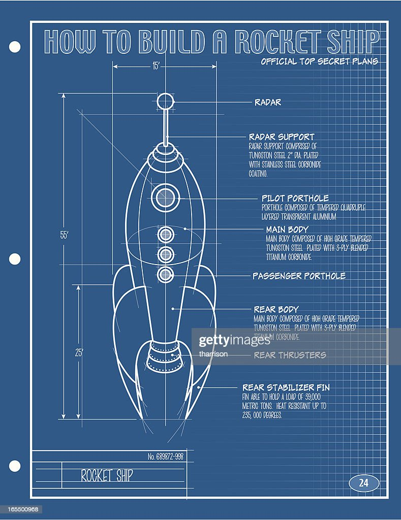 real rocket ship diagram 2004 dodge stratus wiring vector blueprint art getty images