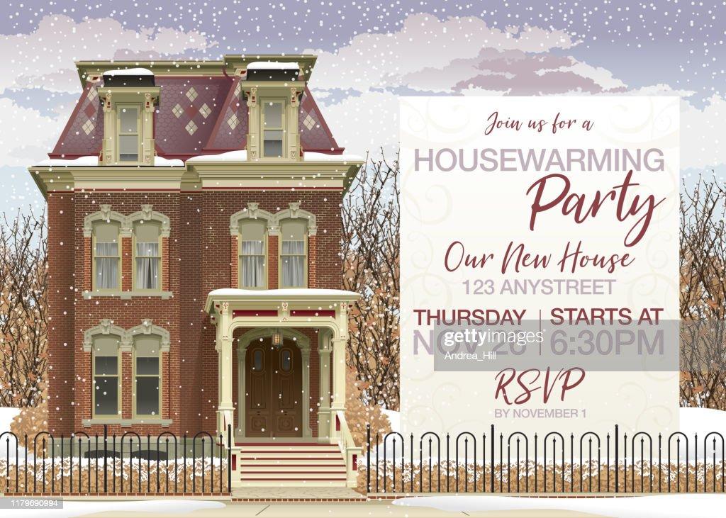 https www gettyimages ch detail illustration victorian house in winter housewarming party lizenfreie illustration 1179690994 language fr