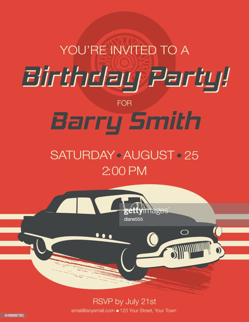 https www gettyimages com detail illustration vintage card birthday party invitation royalty free illustration 946868760