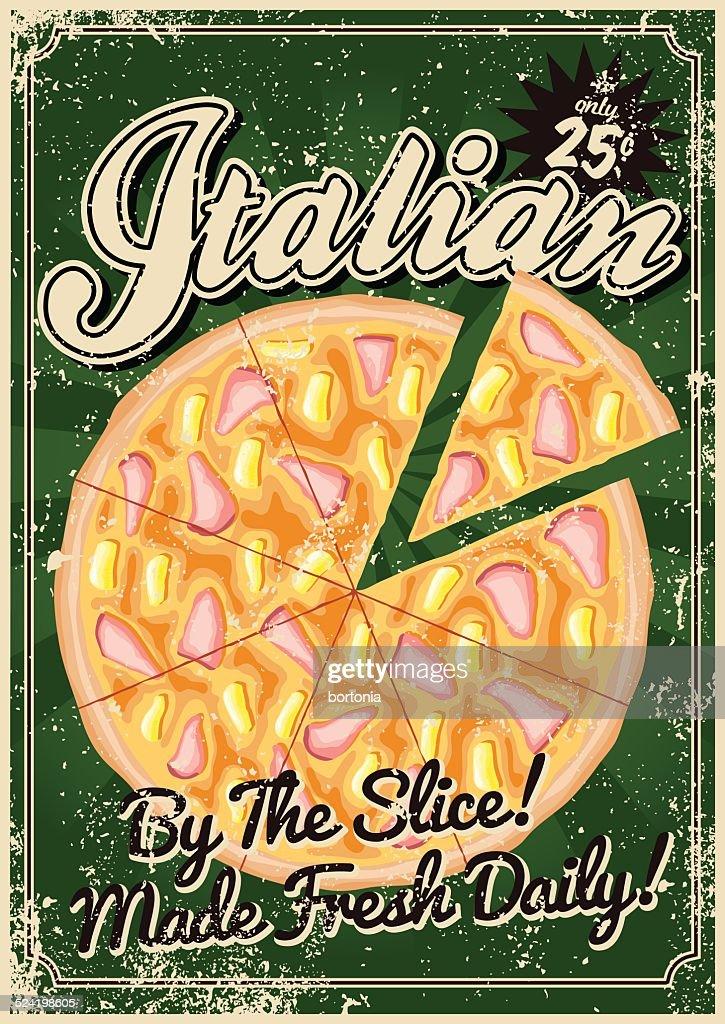Vintage Serigrafati Cucina Italiana Poster Arte vettoriale  Getty Images