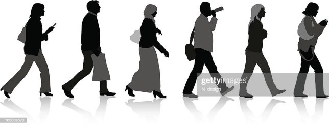 Walking People Silhouette High Res Vector Graphic Getty Images