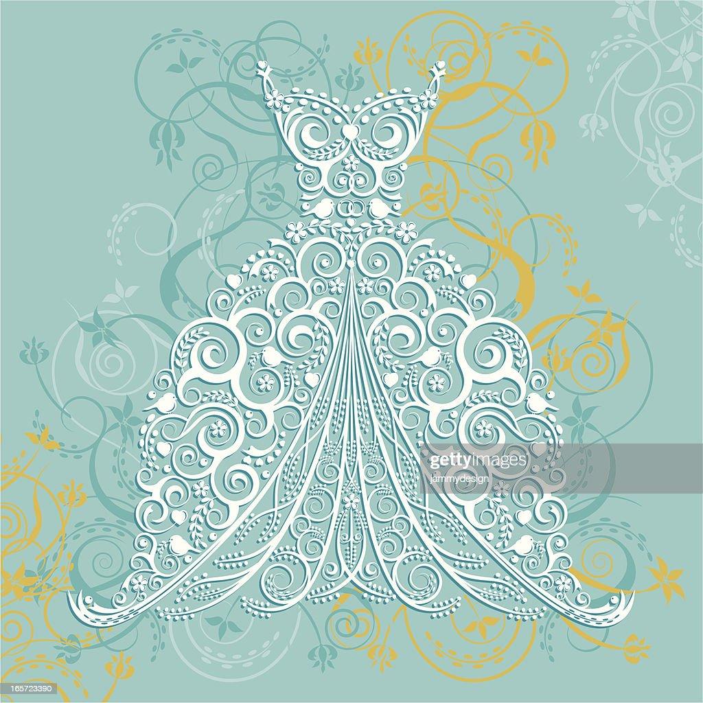Wedding Dress Vector Art