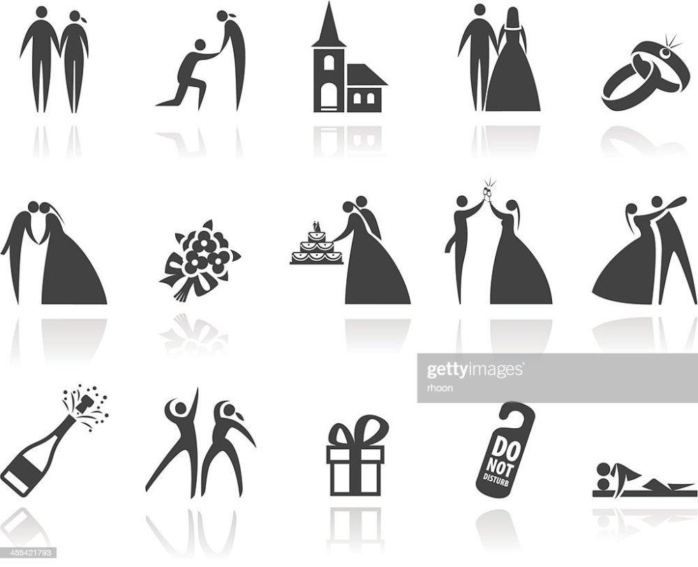 medium resolution of wedding icons
