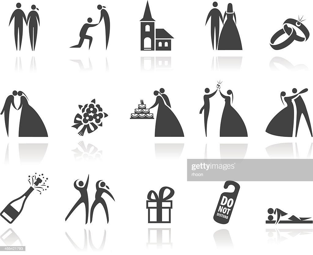 hight resolution of wedding icons
