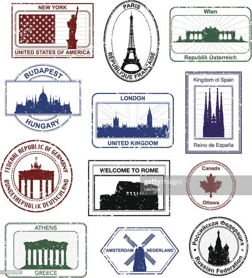 small resolution of western passport stamps