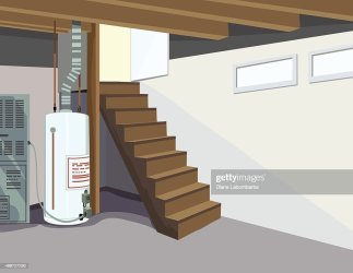basement plumbing wide clip perspective stairs water tank vector cartoons illustrations clipart louis st graphics sewer royalty icons maplewood residential