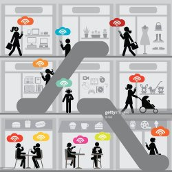 mall shopping vector illustrations wi fi wifi cartoons illustration rf vectors gettyimages