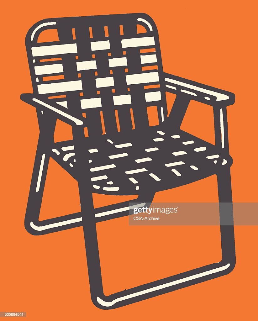 Woven Lawn Chair Woven Lawn Chair Stock Illustration Getty Images