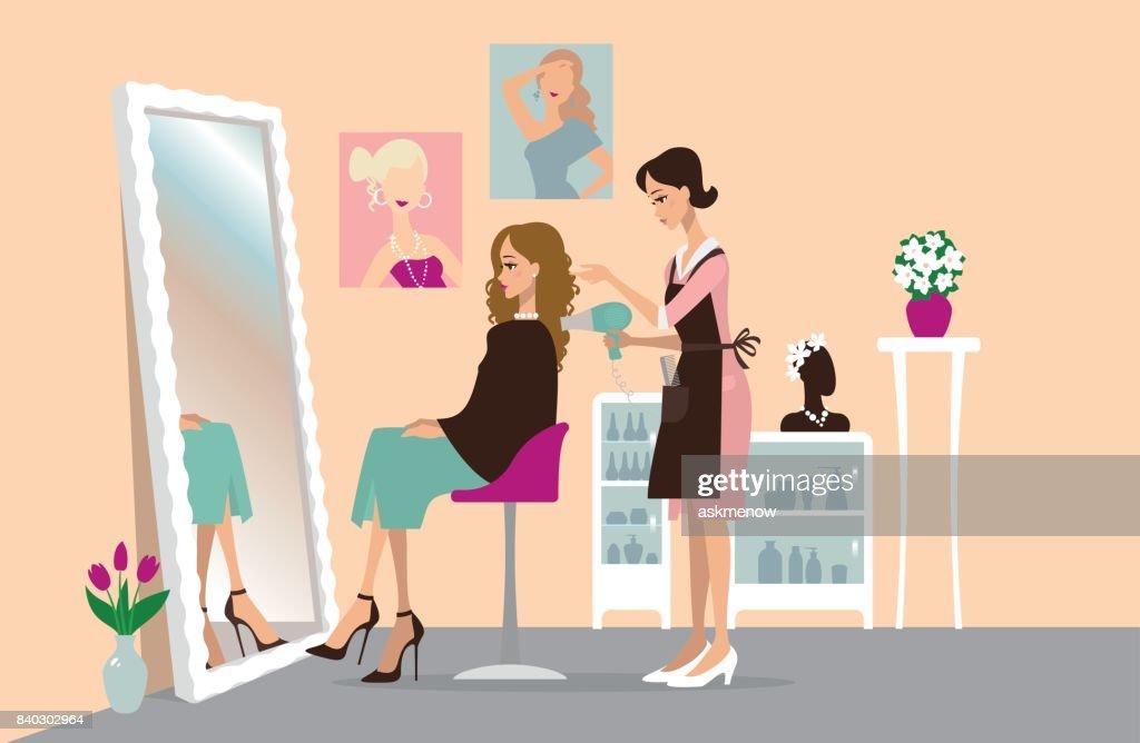 world's hair salon stock illustrations